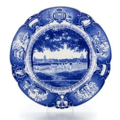 Wedgwood United States Naval Academy-Blue (Scalloped) at Replacements, Ltd