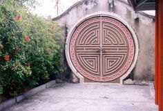 Door at Snake Temple on the island of Penang, Malaysia. I've actually been here and seen this door.