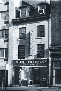 Kiehl's Original Pharmacy - NYC. Opened 1851.  @Elizabeth Buller Roman - am I right?  was this the store you took me to?