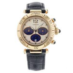 Men's Cartier Pasha Chronograph 38mm W3014051 18k Solid Yellow Gold Quartz Watch #Cartier #LuxuryDressStyles