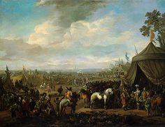Ville flamande assiégée par les soldats espagnols, par Johannes Lingelbach