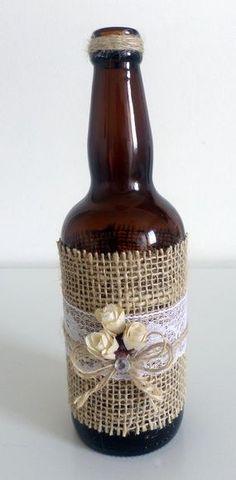 Glass Bottle Crafts, Wine Bottle Art, Diy Bottle, Bottles And Jars, Glass Bottles, Mason Jar Crafts, Mason Jars, Recycled Crafts, Diy And Crafts