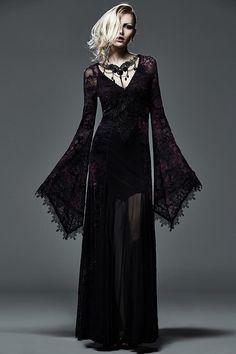 Q-265 Wholesale Flocking Long Tight Dark Violet Color Slinky Dress