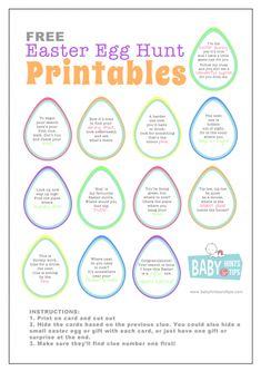 Easter egg hunt ideas for couples from easter egg and free easter egg hunt printables hide the clues and let the fun begin the perfect easter egg hunt ideas especially if you want a chocolate free easter negle Images
