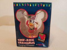 Disney Daphne Duck Mrs Claus Outfit Tree-rific Treasures Hanging Ornament Enesco #Enesco