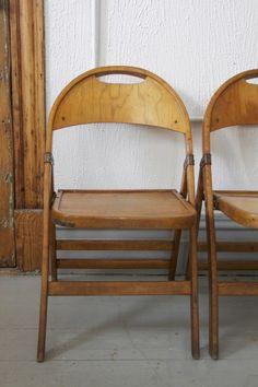 Vintage Steelcase Office Chair Antique Oak folding chair
