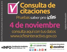 @Escolmeeduco ¡Ey recuerda que hoy es la consulta de citaciones para las pruebas saber pro!
