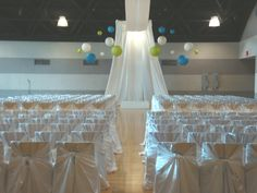 The Hubbard Ballroom set up for a wedding ceremony.