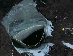 Hollow Earth | The Hollow Earth entrance No 2 in Antarctica as shown in the satellite ...