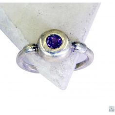 Riyo Colossal Amethyst 925 Solid Sterling Silver Purple Ring Srame7-2100