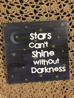 Wooden Sign: Stars on Etsy, $22.00