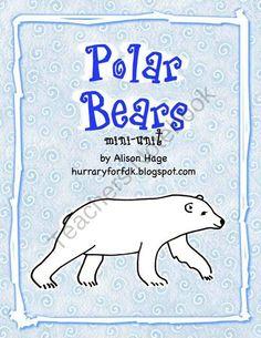 Polar Bears for Kindergarten and First Grade - Mini Unit product from FullDayKindergarten on TeachersNotebook.com