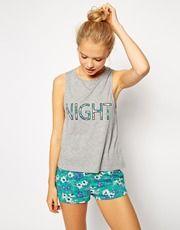 ASOS Jersey 'Night' Tank & Short Pajama Set