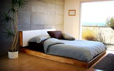 Mash Studios LAX Bed (with cleverly-hidden shelves behind the white doors of the headboard)