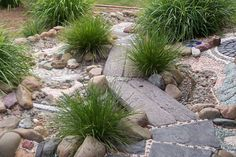 another sensory path / dry creek bed - lovely