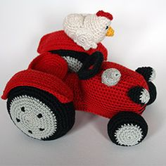 Farmer and tractor amigurumi pattern by Christel Krukkert
