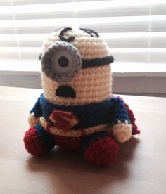 Superman Minion PDF Pattern Crochet for Amigurumi by JAMigurumi