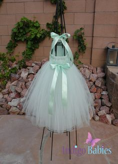 Tutu Dress Flower Girl Dress Mint Green Tulle by indigobabies, $38.00- Lucy and Anabelle!