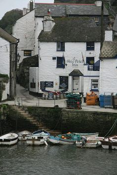 The Blue Peter Inn Polperro Cornwall, my daughters favorite place to visit in England! ~ from previous pinner British Pub, British Isles, Polperro Cornwall, St Just, Blue Peter, Devon And Cornwall, Cornwall Coast, England And Scotland, Fishing Villages