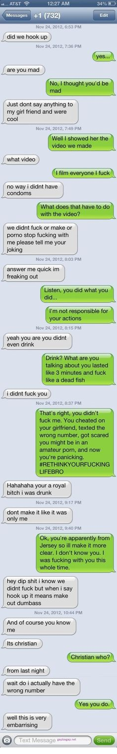 Hilarious Text About Hook Up