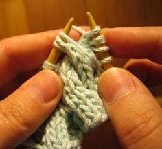 Grumperina goes to local yarn shops and Home Depot - cable knitting without a cable needle