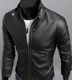 2013 New Mens fashion leather clothing Motorcycle Jacket short coat | Clothing, Shoes & Accessories, Men's Clothing, Coats & Jackets | eBay!