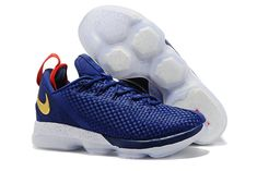 32f0ddb0ac1 Nike LeBron 14 Low Midnight Navy and University Red-Metallic Gold For Sale