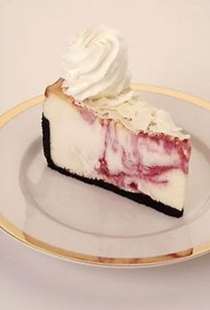 Cheesecake Factory's White Chocolate Raspberry Truffle Cheesecake. This is a MUST try!
