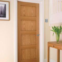 Create a timeless look with this Shaker internal 4 panel oak fire door. Oak Fire Doors, Oak Doors, Shaker Style Doors, Shaker Doors, 4 Panel Doors, Veneer Door, Victorian Door, Kitchen Doors, Construction Materials