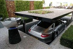 Pop up garage. How about that, James Bond or what?