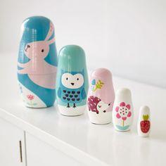 Rosa Rabbit Russian Dolls