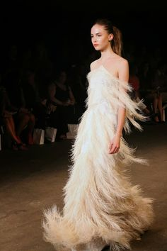 Christian Siriano Feathers ? Plumes perhaps. Long, full, beautiful Plumes