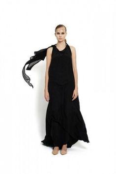 occasion silk wrap dress with small trail, design Lucie Kutálková/ LEEDA store Silk Wrap, Winter Collection, Wrap Dress, Fall Winter, Trail, Black, Store, Dresses, Design