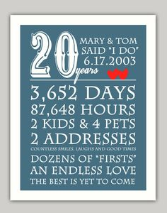 Anniversary print (customize years and phrases)
