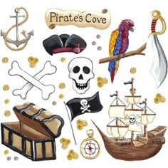 Wall Decals for Kids - Pirates