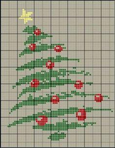 árvore de natal ponto cruz