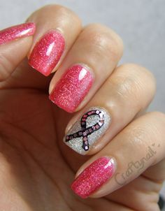 T Cancer Awareness Nails Time For A Manicure Don Forget To