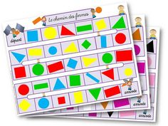 le jeu des formes - Le blog d'Aliaslili French Teaching Resources, Teaching French, Maya Banks, Preschool Kindergarten, Teaching Math, Act Math, Core French, Petite Section, Too Cool For School