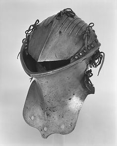 Tournament Helm (Stechhelm) Date: ca. 1500 Geography: probably Nuremberg Culture: German, probably Nuremberg Medium: Steel, copper alloy Dimensions: H. Helmet Armor, Knights Helmet, Suit Of Armor, Arm Armor, Medieval Knight, Medieval Armor, Medieval Helmets, Ancient Armor, Costume Armour