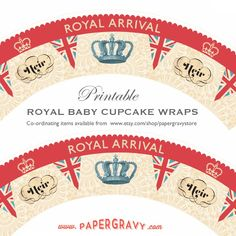 papergravy royal baby free printable cupcake wrappers