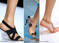 Spring/ Summer 2016 Shoe Trends: Shoes With Lucite Heels  #shoes #trends #SS16