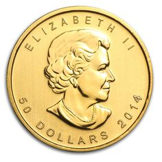 79032 2014 1 oz. Gold Canadian Maple Leaf Coin