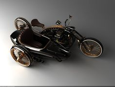 Black Widow with a sidecar - Featured in Steampunk Holmes by Richard Monson-Haefel