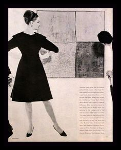1962 Vogue Black and White Fashion Page Ad  by 3rdStVintagePaper