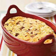 12 Breakfasts Under 250 Calories  | Sausage and Cheese Breakfast Casserole | MyRecipes.com