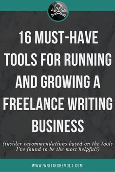With these 16 must-have freelance writing tools, you can get organized, get productive, and make shit happen for your business. Check out the list now! | freelance writing tips | become a freelance writer | start freelance writing | make money writing online |