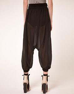ASOS sheer black pants