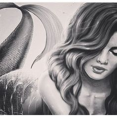 pencil drawings of mermaids | Mermaid drawing Pencil drawings