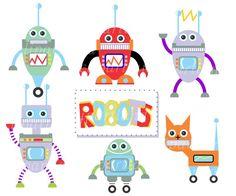 Robots. $3.99, via Etsy.