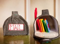Felt Mail box with letters